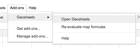 Activating Geosheets